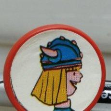 Juguetes antiguos y Juegos de colección: ANTIGUO ANILLO DE PLÁSTICO REGULABLE VICKY EL VIKINGO AÑOS 70 KIOSCO . Lote 194542683