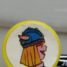 Juguetes antiguos y Juegos de colección: ANTIGUO ANILLO DE PLÁSTICO REGULABLE VICKY EL VIKINGO AÑOS 70 KIOSCO . Lote 194542687