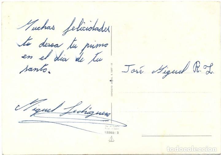 Juguetes antiguos y Juegos de colección: POSTAL NIÑO CON UN BARCO Y UN HELICÓPTERO DE JUGUETE - IMPRESO EN ESPAÑA - Foto 2 - 194617767