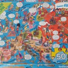 Juguetes antiguos y Juegos de colección: PUZZLE EUROPA, EDUCA, 50 PIEZAS, AÑOS 80, MADE IN SPAIN.. Lote 194638680