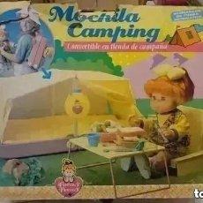 Juguetes antiguos y Juegos de colección: RAREZA COLECCIONISTAS ! MOCHILA CAMPING PARA MUÑECA POCAS PECAS ORIGINAL AÑOS 80 JUGUETE . Lote 195005958