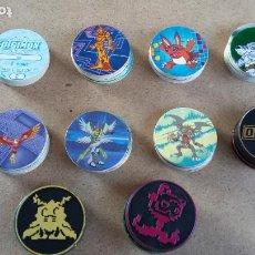 Juguetes antiguos y Juegos de colección: THE SIMPSONS - LOTE DE 61 TAZOS DIF ( CAPS, POGS ) + 11 MASTERS + 5 REPES MAGIC BOX INTERNACIONAL. Lote 195020700
