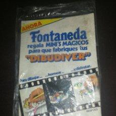 Juguetes antiguos y Juegos de colección: DIBUDIVER FONTANEDA, TOTALMENTE PRECINTADO, MINI'S MÁGICOS, CON SOPORTE.. Lote 195155052