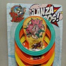 Juguetes antiguos y Juegos de colección: BLISTER TOM Y JERRY LANZA, AROS . Lote 195247958