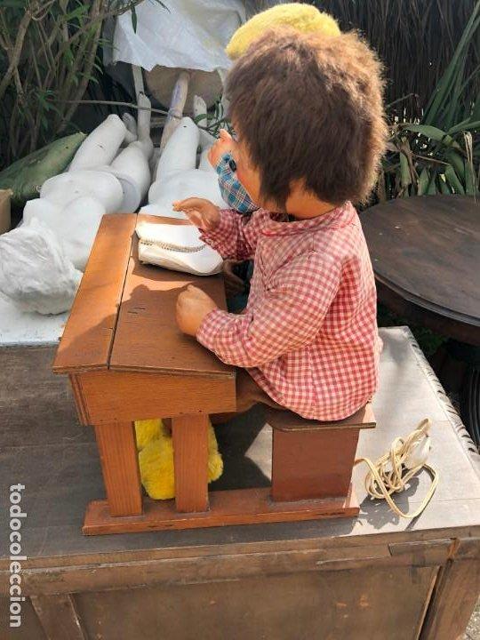 Juguetes antiguos y Juegos de colección: IMPRESIONANTE AUTÓMATA DE NIÑOS EN LA ESCUELA - Foto 5 - 195333271