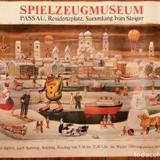 Juguetes antiguos y Juegos de colección: CARTEL DEL MUSEO DEL JUGUETE DE SPIELZEUG MUSEUM 84X70 ORIGINAL. Lote 195407635