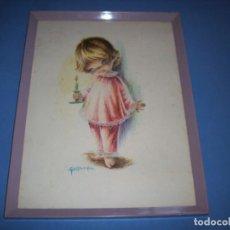 Juguetes antiguos y Juegos de colección: LAMINA GALLARDA ENMARCADA. Lote 195482326