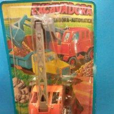 Juguetes antiguos y Juegos de colección: EXCAVADORA. JUGUETES HAMBER'S. Lote 195532122