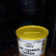 Juguetes antiguos y Juegos de colección: UNICA EN TODOCOLECCION HUCHA TINTIN LOS CIGARROS DEL FARAON HERGE. Lote 195545513