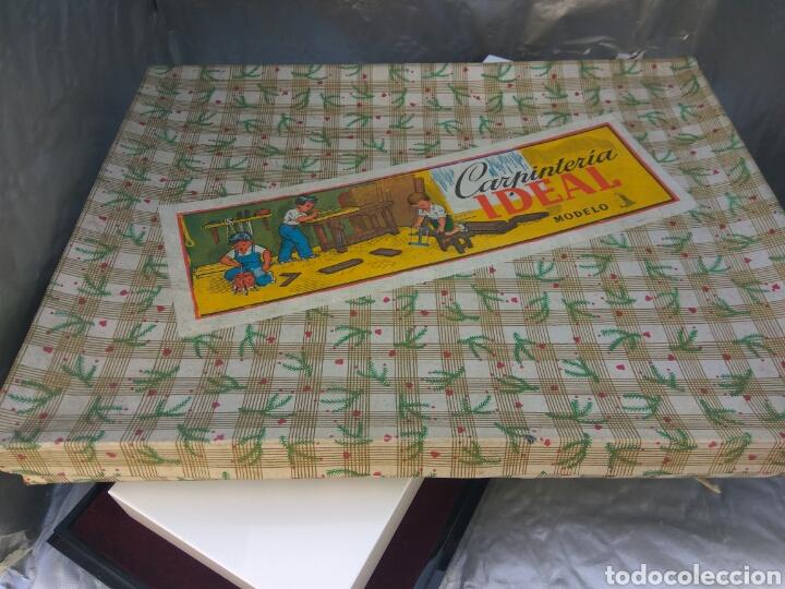 Juguetes antiguos y Juegos de colección: JUGUETES JUEGO DE CARPINTERÍA IDEAL , NUEVO - Foto 3 - 196830278