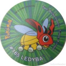 Juguetes antiguos y Juegos de colección: POKEMON GIGANTAZO #165 LEDYBA -TASTY-MATUTANO- AÑO 2001./ DIÁMETRO: 50 MM.. Lote 198377820