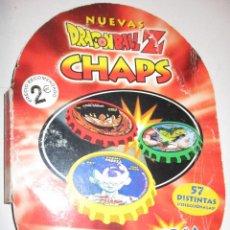 Juguetes antiguos y Juegos de colección: ALBUM CON 54 TAZOS CHAPS MATUTANO DRAGON BALL Z,SOLO FALTAN 3. Lote 199073623