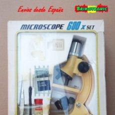 Juguetes antiguos y Juegos de colección: MICROSCOPIO CON LUZ, ANTIGUO DE JUGUETE 600X MADE IN JAPAN. Lote 200148138