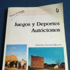 Juguetes antiguos y Juegos de colección: JUEGOS Y DEPORTES AUTÓCTONOS FAUSTINO ANDRÉS MARTÍN SALAMANCA 1987. Lote 200265448