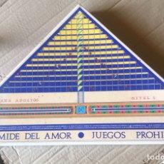 Juguetes antiguos y Juegos de colección: LA PIRÁMIDE DEL AMOR, JUEGO EROTICO PARA ADULTOS, COMPLETO. Lote 201259820