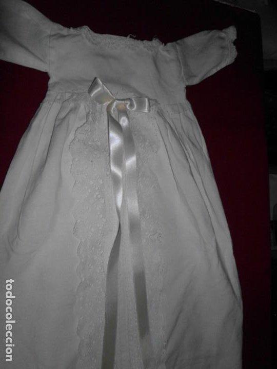 VESTIDO DE HILO CON PUNTILLA DE BOLILLO PARA MUÑECA ANTIGUA (Juguetes - Vestidos y Accesorios Muñeca Internacional Antigua)