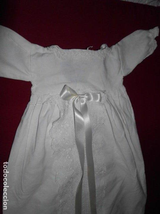Juguetes antiguos y Juegos de colección: Vestido de hilo con puntilla de bolillo para muñeca antigua - Foto 3 - 201268973