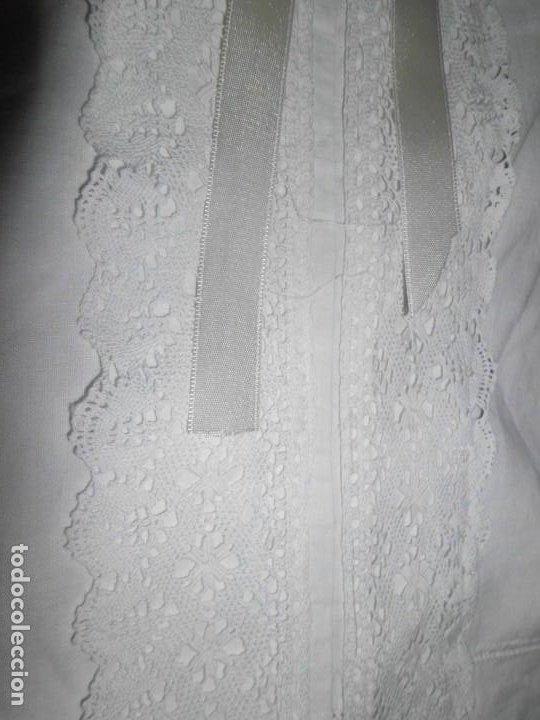 Juguetes antiguos y Juegos de colección: Vestido de hilo con puntilla de bolillo para muñeca antigua - Foto 6 - 201268973