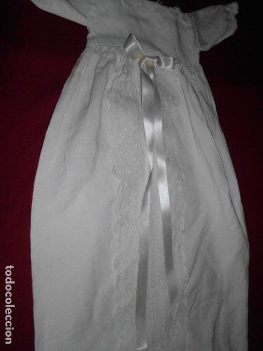 Juguetes antiguos y Juegos de colección: Vestido de hilo con puntilla de bolillo para muñeca antigua - Foto 2 - 201268973