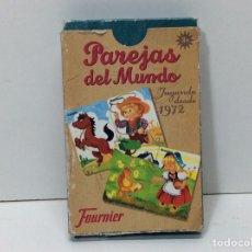 Juguetes antiguos y Juegos de colección: BARAJA PAREJAS DEL MUNDO FURNIER. Lote 202832026
