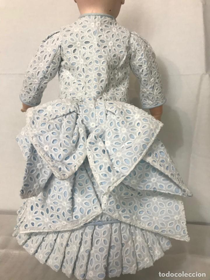Juguetes antiguos y Juegos de colección: Vestido Muñeca Francesa Antigua Jumeau nº 10 - Foto 4 - 39273356