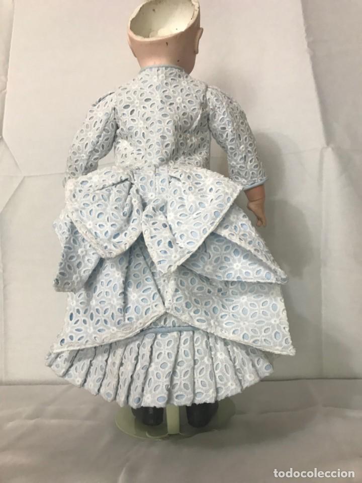 Juguetes antiguos y Juegos de colección: Vestido Muñeca Francesa Antigua Jumeau nº 10 - Foto 5 - 39273356