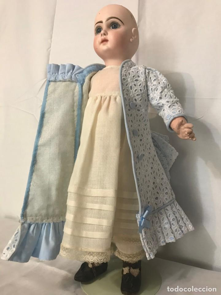 Juguetes antiguos y Juegos de colección: Vestido Muñeca Francesa Antigua Jumeau nº 10 - Foto 8 - 39273356