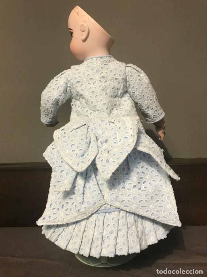 Juguetes antiguos y Juegos de colección: Vestido Muñeca Francesa Antigua Jumeau nº 10 - Foto 12 - 39273356