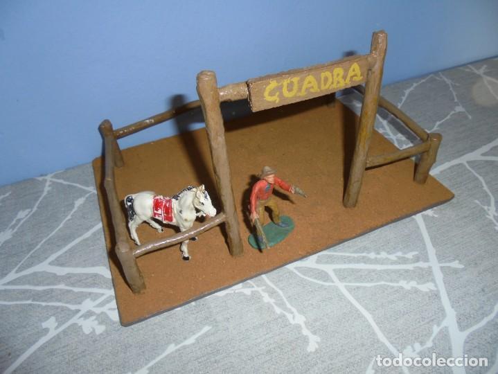 Juguetes antiguos y Juegos de colección: magnifica maqueta artesanal para comansi o playmobil cuadra caballos - Foto 2 - 203782927