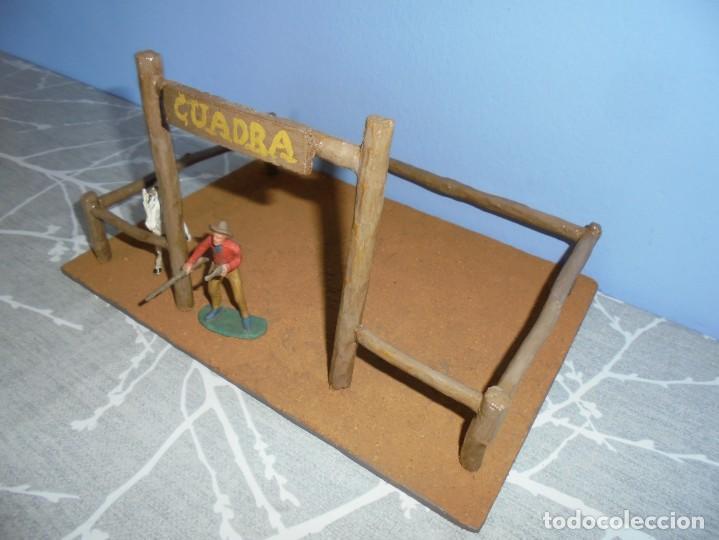 Juguetes antiguos y Juegos de colección: magnifica maqueta artesanal para comansi o playmobil cuadra caballos - Foto 3 - 203782927