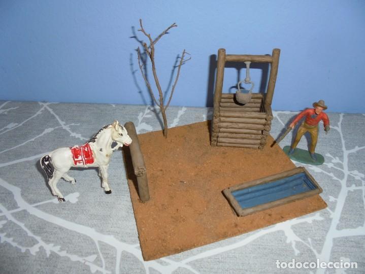 Juguetes antiguos y Juegos de colección: magnifica maqueta artesanal para comansi o playmobil pozo con bebedero de caballos - Foto 3 - 203783201