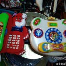Juguetes antiguos y Juegos de colección: 2 TELÉFONOS DE JUGUETE CON NOTAS MUSICALES EN LAS TECLAS. Lote 203827676