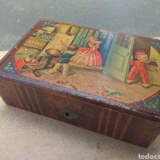 Juguetes antiguos y Juegos de colección: ANTIGUA CAJA - JOYERO PARA NIÑAS DE MADERA - AÑOS 60 -. Lote 204482176