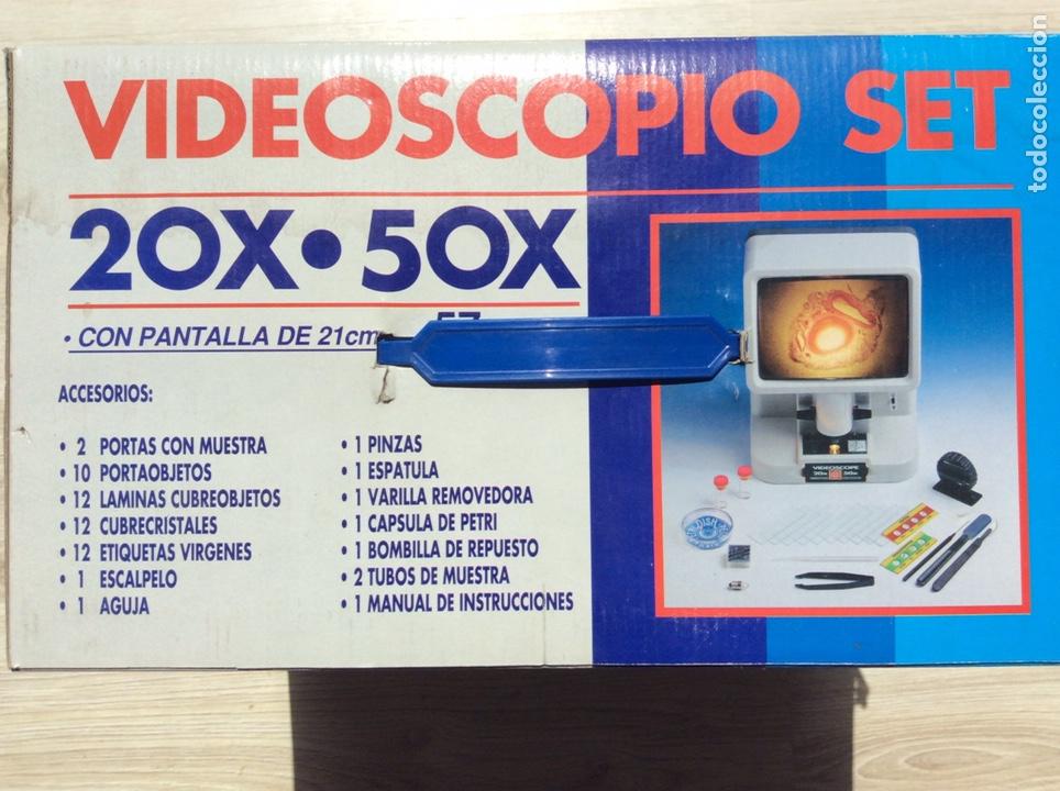 Juguetes antiguos y Juegos de colección: VIDEOSCOPIO SET, 20X-50X, EN SU CAJA ORIGINAL SIN USO 57 PIEZAS - Foto 3 - 205367647
