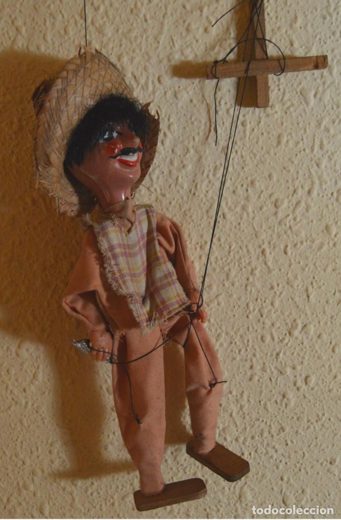 Juguetes antiguos y Juegos de colección: MARIONETA - MEXICANO - PAPEL MACHÉ , TELA Y MADERA - Foto 2 - 205577423