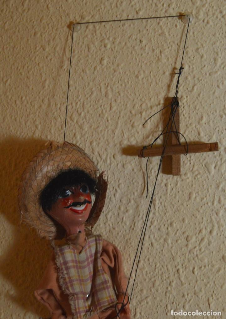 Juguetes antiguos y Juegos de colección: MARIONETA - MEXICANO - PAPEL MACHÉ , TELA Y MADERA - Foto 3 - 205577423