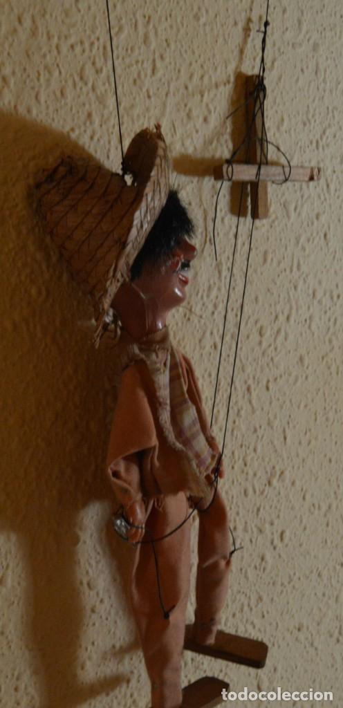 Juguetes antiguos y Juegos de colección: MARIONETA - MEXICANO - PAPEL MACHÉ , TELA Y MADERA - Foto 5 - 205577423
