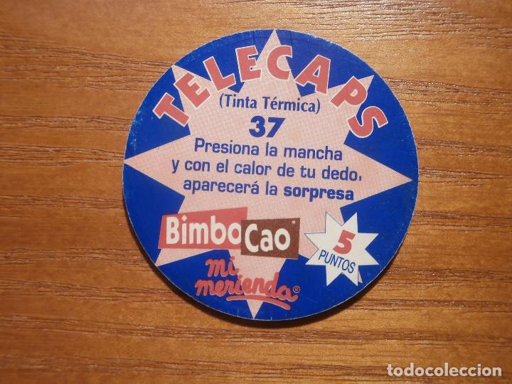 TAZO - CAPS - ZONE TINTA TERMICA - BIMBO CAO Nº 37 - TELECAPS - POGS - TAZOS (Juguetes - Varios)