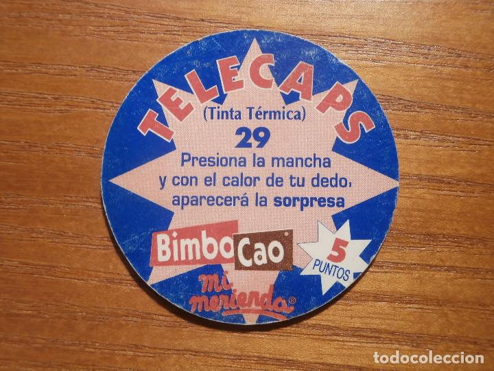 TAZO - CAPS - ZONE TINTA TERMICA - BIMBO CAO Nº 29 - TELECAPS - POGS - TAZOS (Juguetes - Varios)