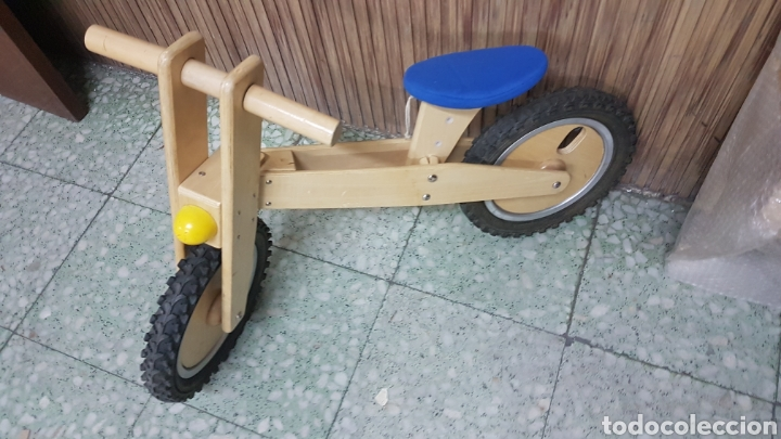 Juguetes antiguos y Juegos de colección: Bicicleta madera niño - Foto 3 - 206290126