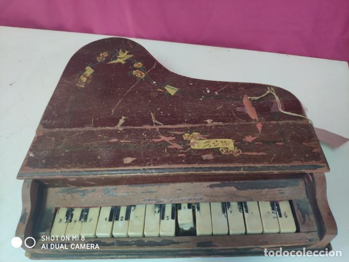 Juguetes antiguos y Juegos de colección: PIANA DE JUGUETE EN MADERA - XXX 153 - Foto 3 - 42979349