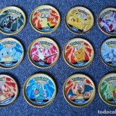 Juguetes antiguos y Juegos de colección: POKEMON CHIPICAO MASTER TAZO METAL TODOS LOS TAZOS METALICOS DIFERENTES NO MATUTANO CHAPS BLIX ROKS. Lote 211610950