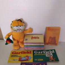 Juguetes antiguos y Juegos de colección: GARFIELD COMICS, LIBROS, LIBRETA PROMO Y PELUCHE. Lote 211611092