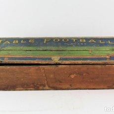 Juguetes antiguos y Juegos de colección: TABLE FOOTBALL, JUEGO FÚTBOL DE MESA, 1920'S, BRITISH PATENT. VER FOTOS. 73X21,5X14CM. Lote 213222336