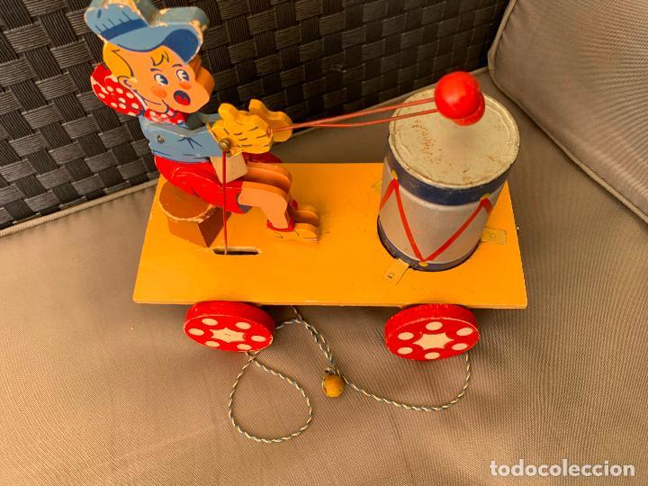 Juguetes antiguos y Juegos de colección: JUGUETE DE ARRASTRE MADERA DE DENIA AÑOS 40-50 - Foto 3 - 215910820