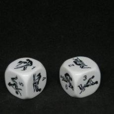 Juguetes antiguos y Juegos de colección: KAMASUTRA DICE, DOS DADOS DE SEIS CARAS CON CONTENIDO ERÓTICO Y UN JUEGO. Lote 217696366