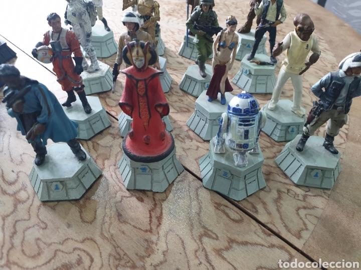 Juguetes antiguos y Juegos de colección: Lote star wars 27 figuras ajedrez plomo la guerra de las galaxias - Foto 2 - 218096913