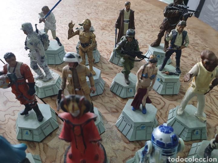Juguetes antiguos y Juegos de colección: Lote star wars 27 figuras ajedrez plomo la guerra de las galaxias - Foto 3 - 218096913