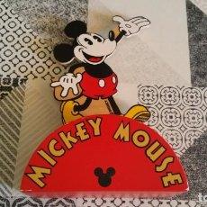 Juguetes antiguos y Juegos de colección: HUCHA MICKEY MOUSE EN MADERA MADE IN FRANCE FMF RARA. Lote 218229052