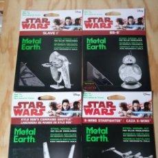 Juguetes antiguos y Juegos de colección: STAR WARS. 4 MAQUETAS METALICAS. Lote 218261128